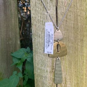 Lucky Brand Jewelry - Lucky Brand NWT silver and gold long necklace
